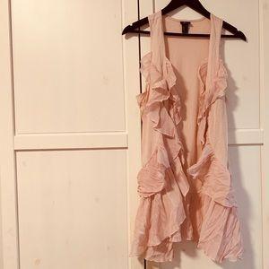 H&M blush ruffle vest